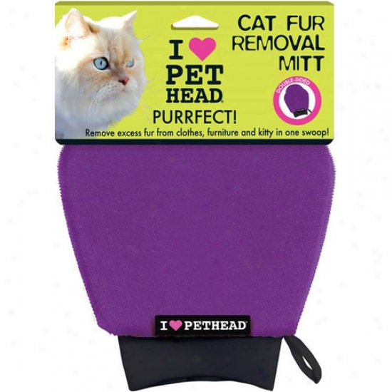 Pet Head Cat Fur Removal Mitt, Purple