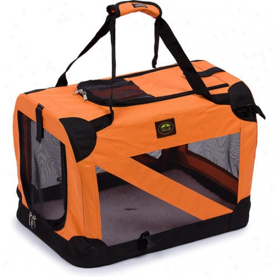 Pet Life Zippered 360  Vista View Pet Carrier In Orange