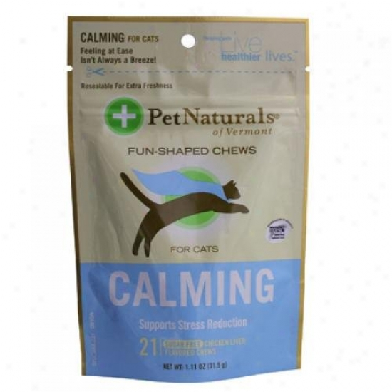 Fondle Naturals Of Vermont Callming For Cats Chicken Liver 21 Soft Chews