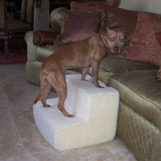 Pet Stairz Big Dawg Foam Pet Stairs With Sherpa Cover