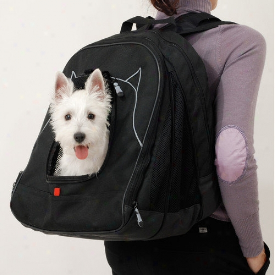 Petego Pet Back-pack At Work Tracl System In Black