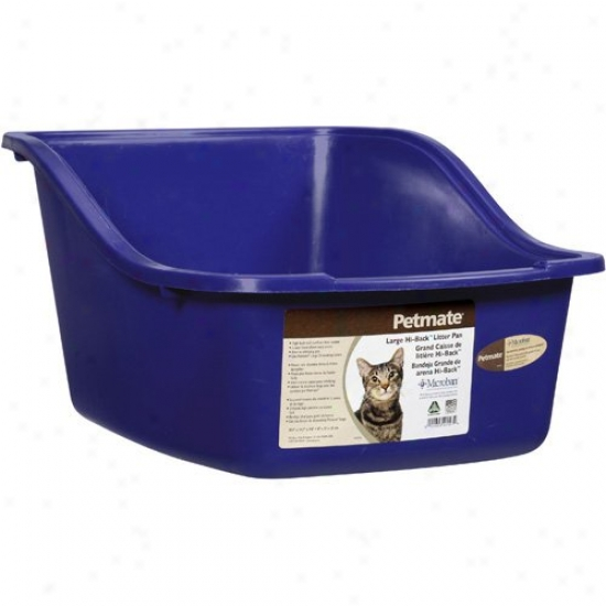 Petmate 22007 Large Assorted Colors Hi Back Cat Litter Pan