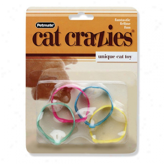 Petmate 4 Piece Cat Crazies Single Cat Toy