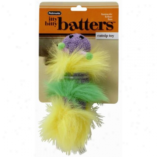 Petmate Aspen Pet 0350481 Mini Size Itty Bitty Batters Catnip Cat Toy