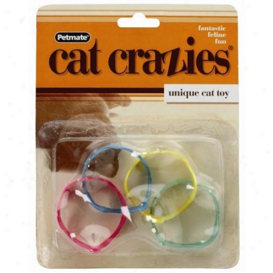 Petmate Aspen Pet 26117 Cat Crazies Unique Cat Toys - 4-piece