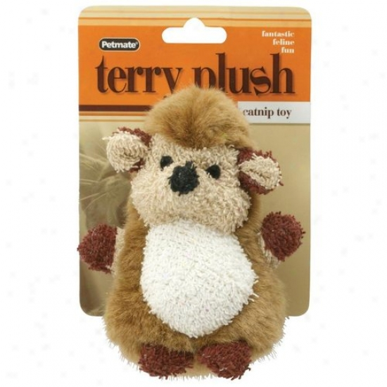 Petmate Aspen Pet 50629 Terry Plush Hedgehog Catnip Toy