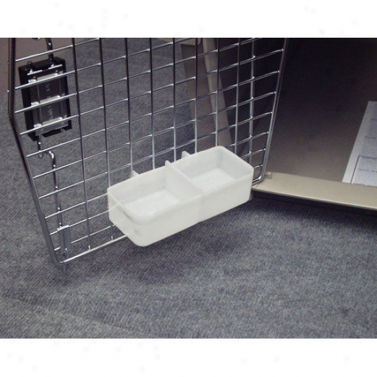 Petmate Double Sided Water Cup For Kennels In White