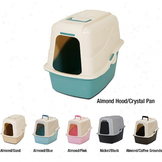 Petmate Hooded Litter Pan Set W/ Microban
