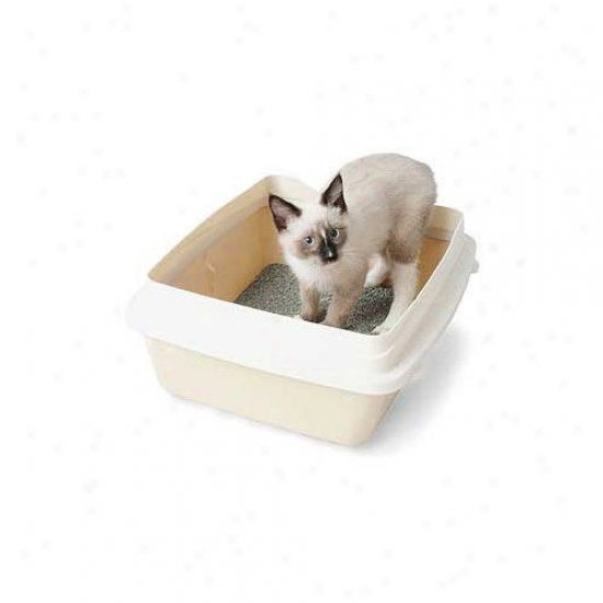 Petmate Large Czt Litter Pan With Rim