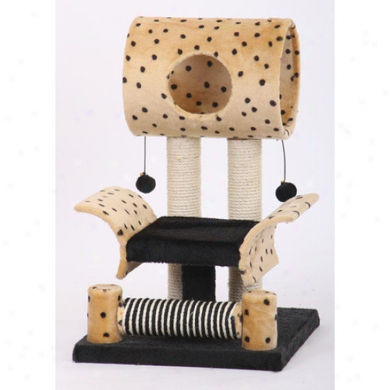 Petpals 28&#039&;#039; Leopard Print Cat Condo