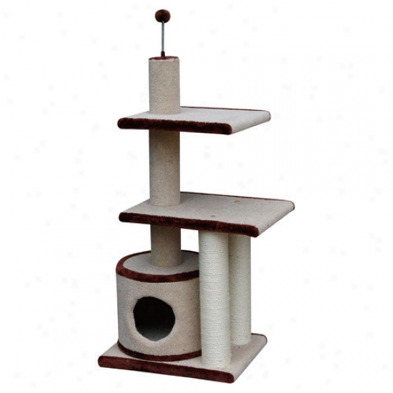 Petpals 42'' Multi Level Carpet Cat Condo