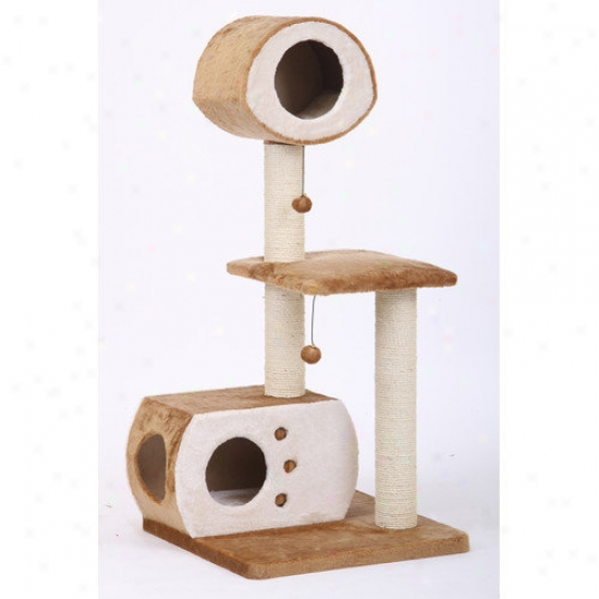 Petpals 50'' Faux Fleece Cat Condo