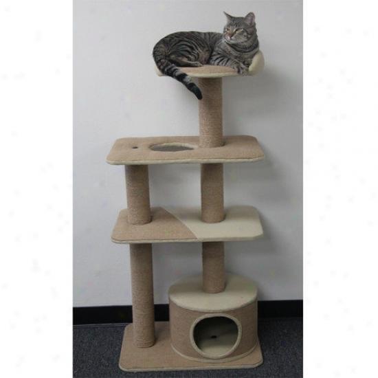 Petpals 52'' Multi-level Cat Tree With Condo