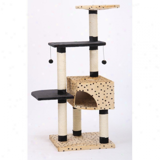 Petpals 55'' Leopard Print Cat Tree