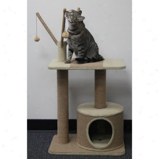 Petpals Recycled Paper Rope Cat Bracket With Teasers And Condo