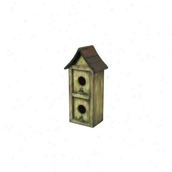 Pinnaacle Strategies Wood Bird House  B92610-2 - Pack Of 2