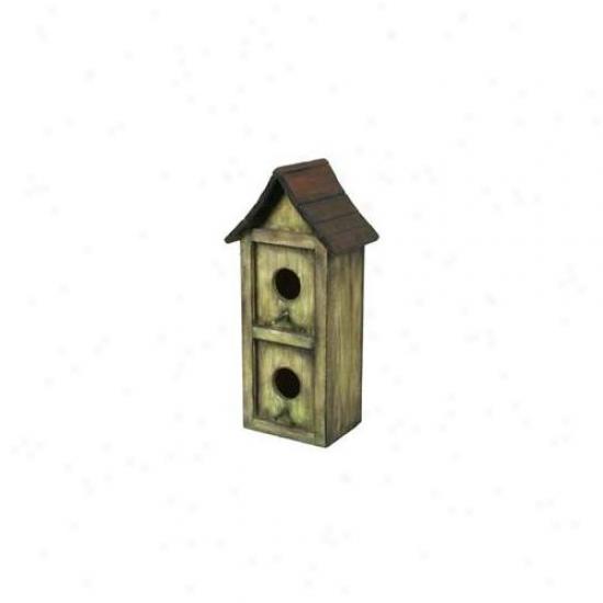 Pinnaacle Strategies Wood Bird House  B92610-2 - Pack Of 2