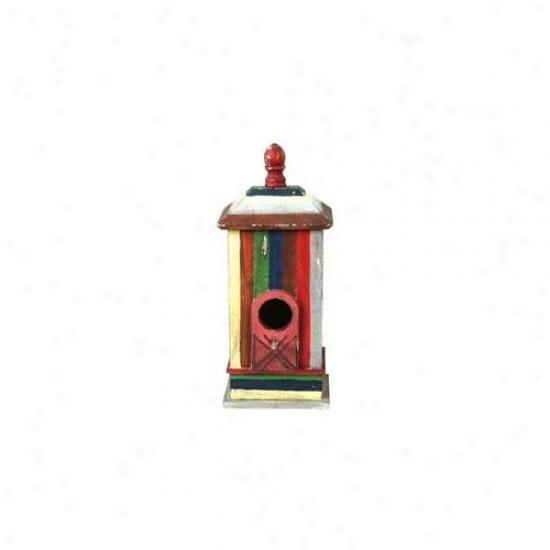 Pinnacle Strategies Wood Bird House  B92758-2 - Pack Of 2