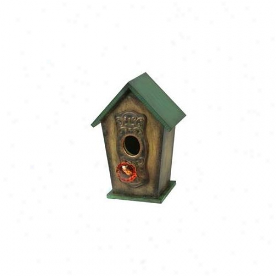 Pinnacle Straategies Wood Bird House  B93171-1 - Pack Of 2