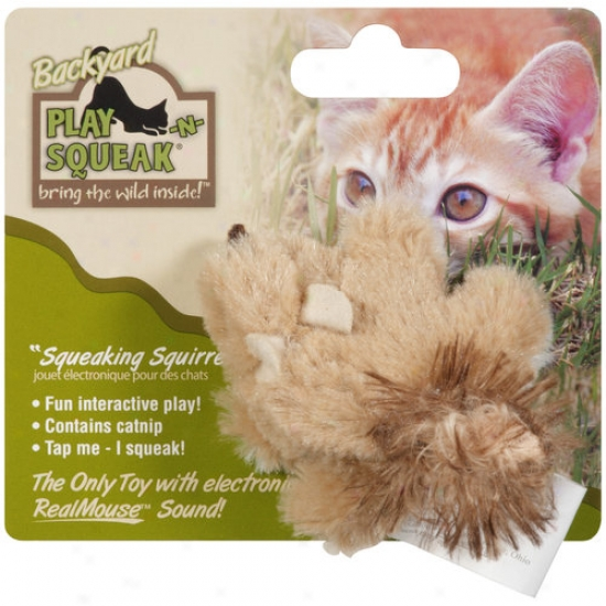Play-n-squeak Backyard Squeaking Squirrel Cat Toy