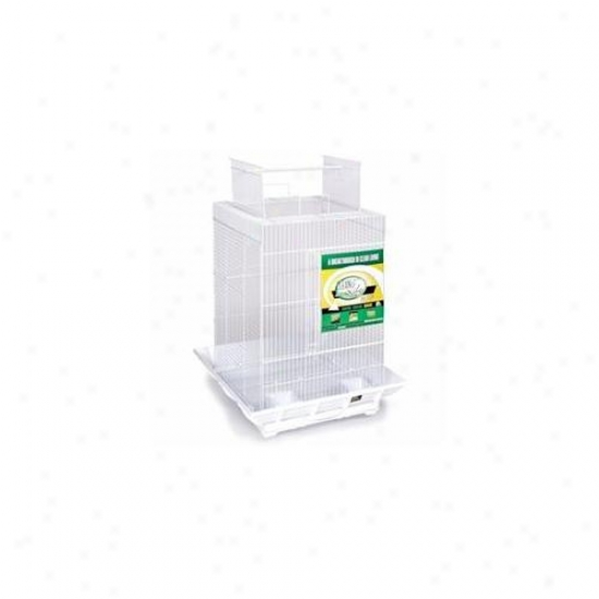 Prevue Hendryx Pp-851g-w Clean Life Play Top Bird Cage - Green & White