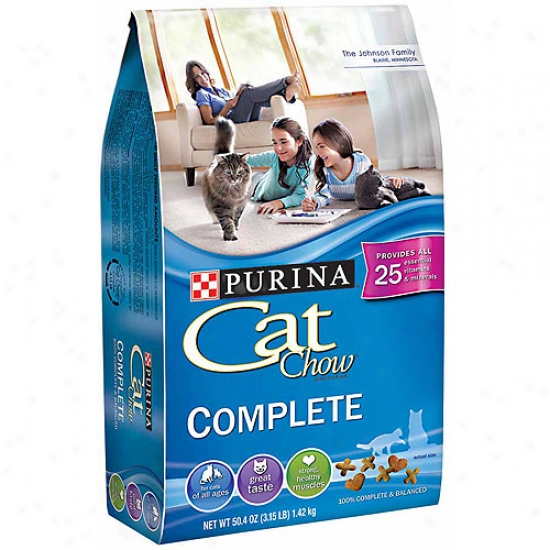 Purina Cat Chow Complete Cat Food, 50.4 Oz