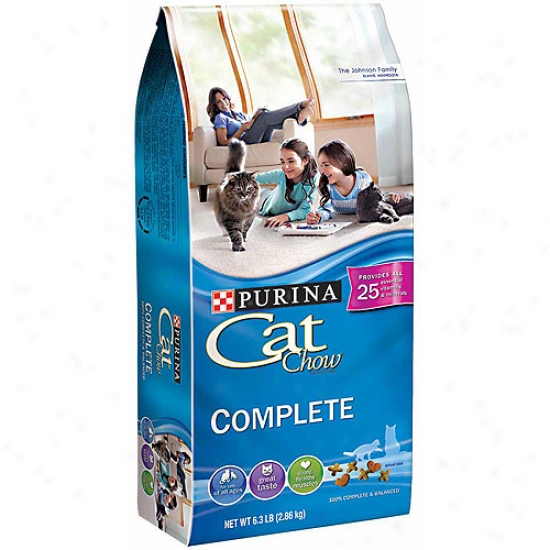 Purina Cat Chow Completee Cat Food, 6.3 Lbs