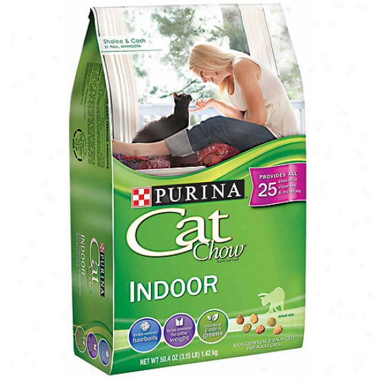 Purina Cat Chow Indoor Cat Food, 50.4 Oz