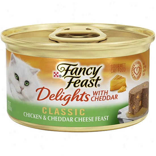 Purina Fancy Feast Delights With Cheddar Classic Chicken & Cheddar Cheese Feast Gourmet Canned Cat Food, 3 Oz