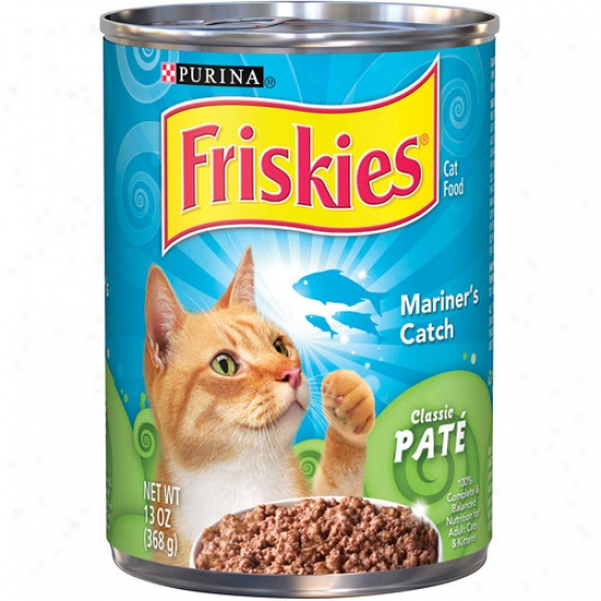 Purina Friskies Classic Pate Mainer's Catch Canned Cat Food, 13 Oz