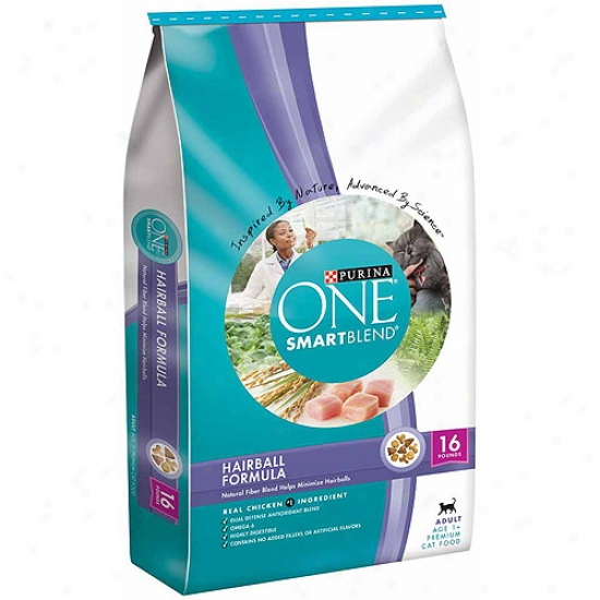 Purina One Cat Dry Smartblend Adult Hairball Fomula Cat Food, 16 Lbs