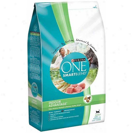 Purina One Cat Dry Smartbllend Adult Indoor Advantage Cat Food, 3.5 Lbs