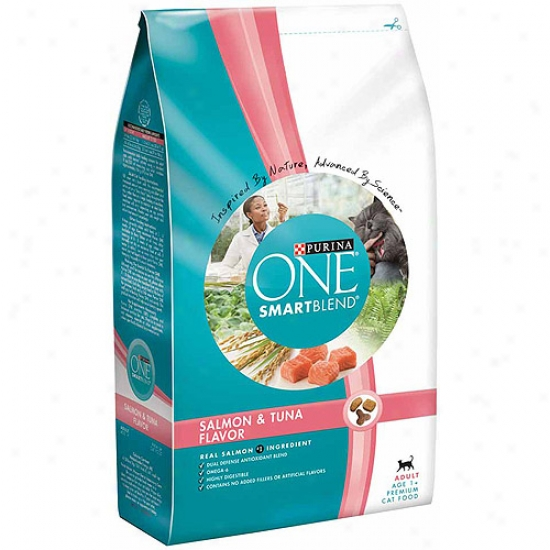 Purina One Cat Dry Smartblend Adult Salmon And Tuna Flavor Cat Food, 3.5 Lbs