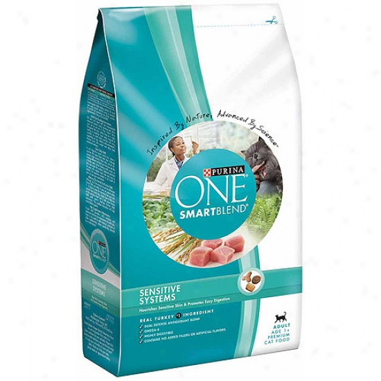 Purina One Cat Dry Smartblehd Adult Sensitive Systems Cat Fodo, 3.5 Lbs