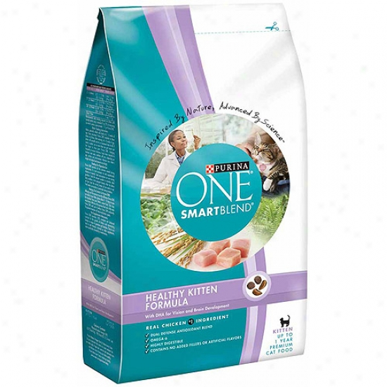 Purina One Cat Dry Smartblend Healthy Ki5ten Formula Cat Food, 3.5 Lbs