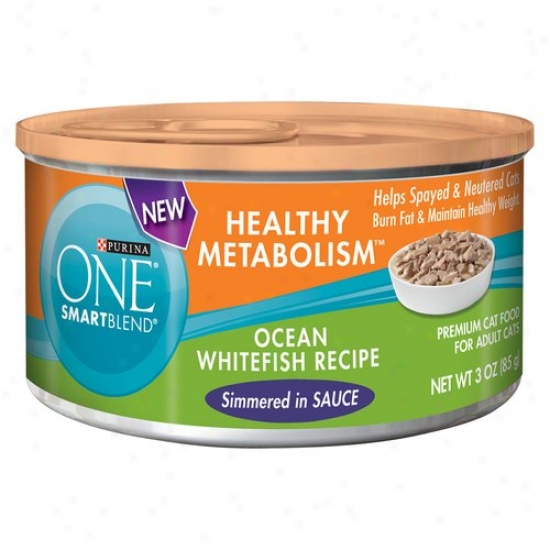 Puriha One Smartblend Healthy Metabolism Canned Cat Food, Ocean Whitefish Recipe, 3 Ozz