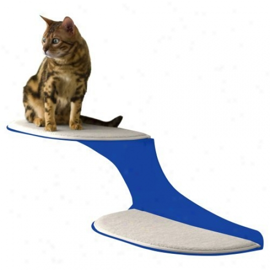 Refined Feline Cat Clouds Cat Shelf - Blue