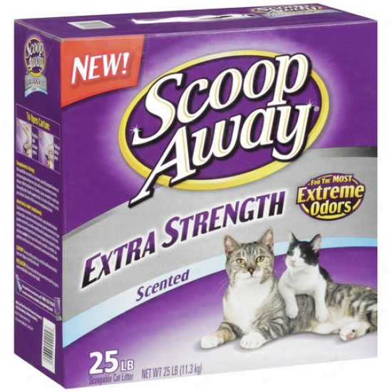 Scoop Away Extra Strength Scented Scoopable Cat Litte,r 25 Lbs