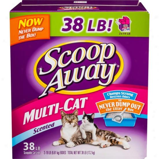 Scoop Away Multi-cat Scented Litter, 38 Lbss