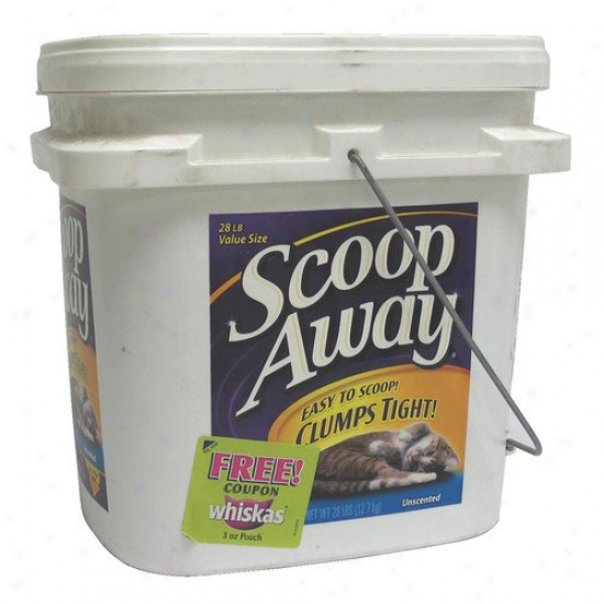 Scoop Away Uncented Clumping Cat Litter (25 Lbs)