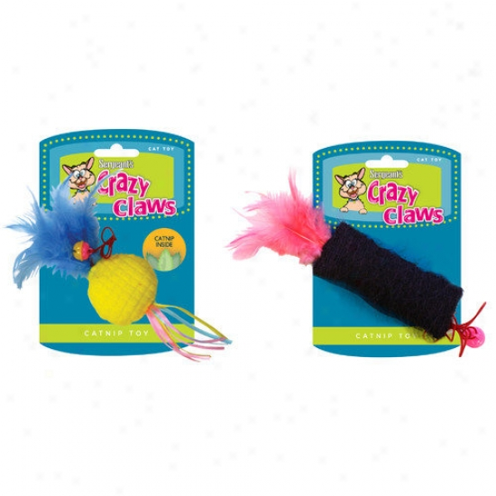 Sergeant's Crazy Claws Assorted Interactive Catnip Toy