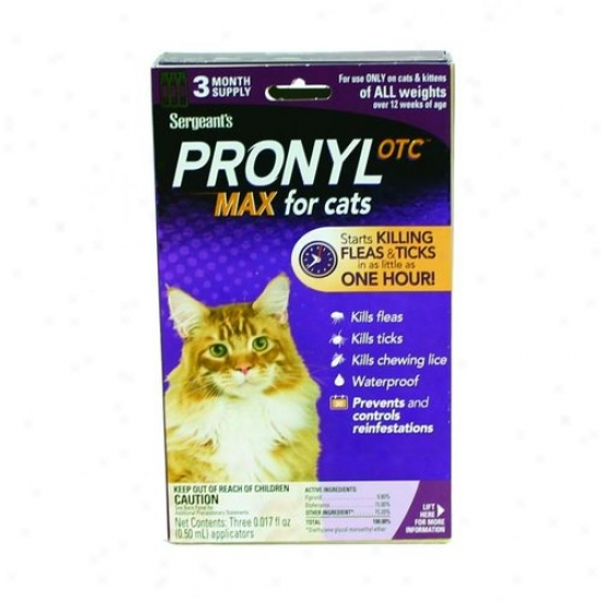 Sergeants Pet 02449 Pronyl Max Flea And Tick Topical For Cats