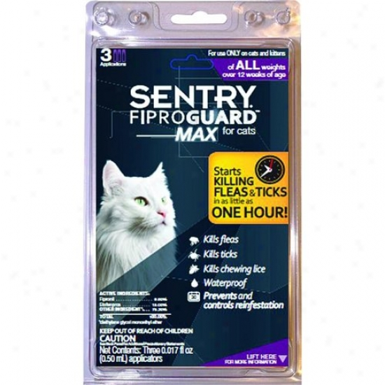 Sergeants Pet 2444 Sentry Fiproguard Max For Cats