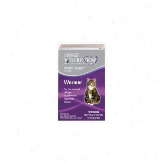 Sergeants Pet Care Products Vetscription Worm-away Capsules For Cats  02161-04