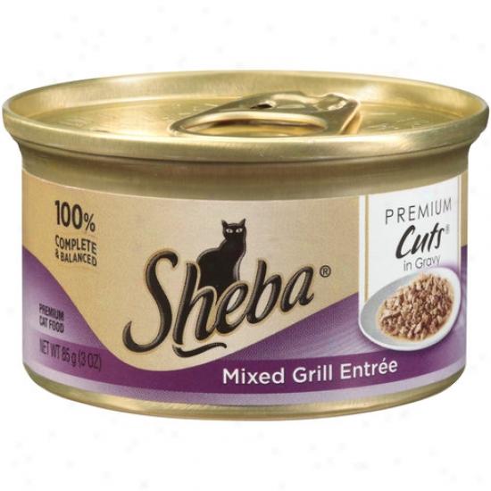Sheba Premium Cuts Cat Food, Mixed Grill Entree, 3 Oz