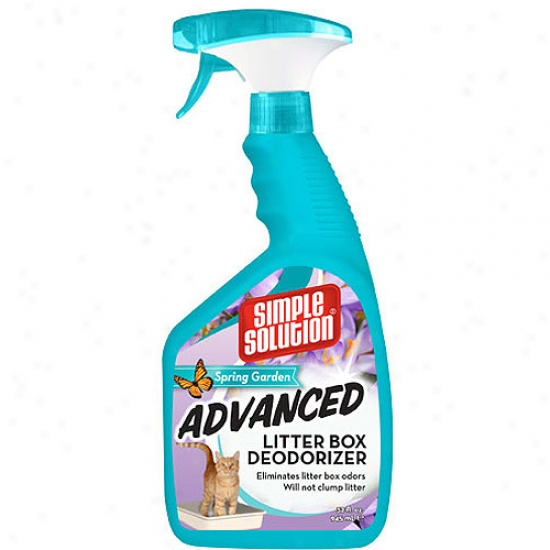Simple Solution Spring Garden Advanced LitterB ox Dekdorizer, 32 Fl Oz
