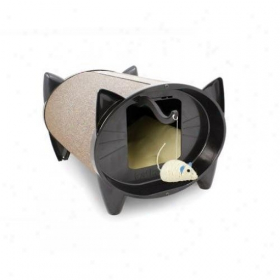 Skratchkabin Sko Indoor Cat House Cat Scratcher In Oatmeal