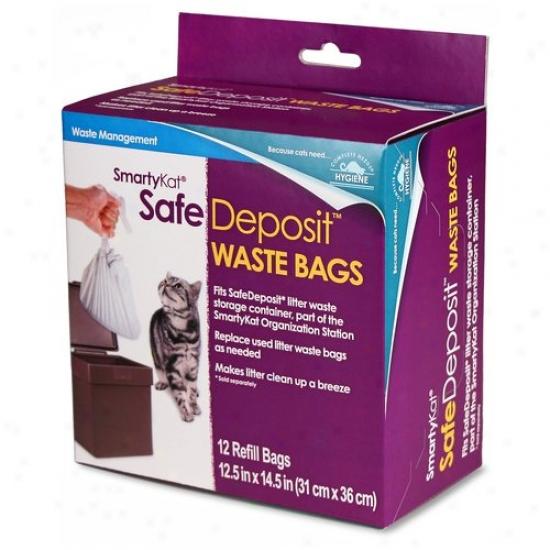 Smartykat Safe Deposit Box Waste Bags Refills Bags, 12-count