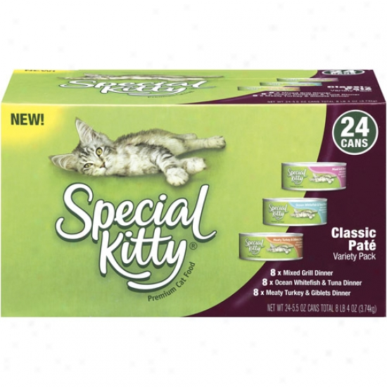 Specific Kitty Premium Classic Pate Variety Pack Cat Aliment, 24ct