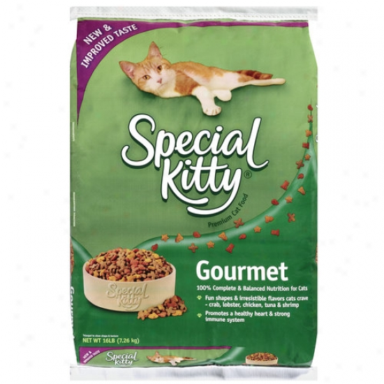 Special Kitty Premium Gourmet Cat Food, 16 Lb